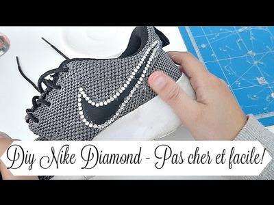 DIY BASKETS DE NIKE - PAS CHER ET FACILE! (DIAMONDS!)