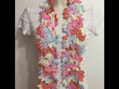 Tuto écharpe fleurie au crochet