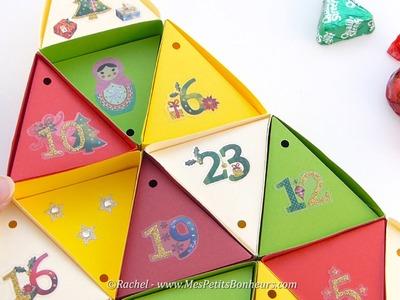 Calendrier de l'Avent Sapin de Noël à fabriquer en papier - Tutoriel