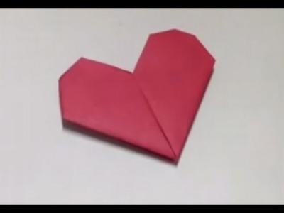 Faire un cœur en origami - Pliage amusant