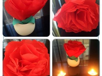 ♡ Vidéo spéciale ♡  ☼ Fabriquer une rose géante en papier ☼