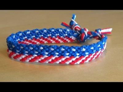 Bracelet Brésilien modèle Drapeau USA (intermédiaire)
