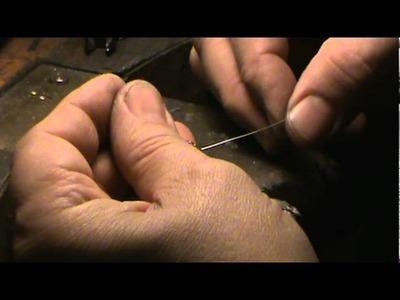 Montage de perles sur chaine fine
