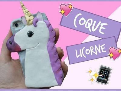 Tuto fimo coque de téléphone licorne. phone case unicorn polymer clay