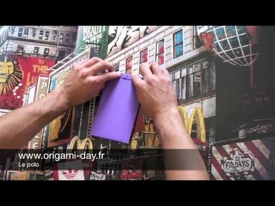 Comment faire en origami un polo - chemise