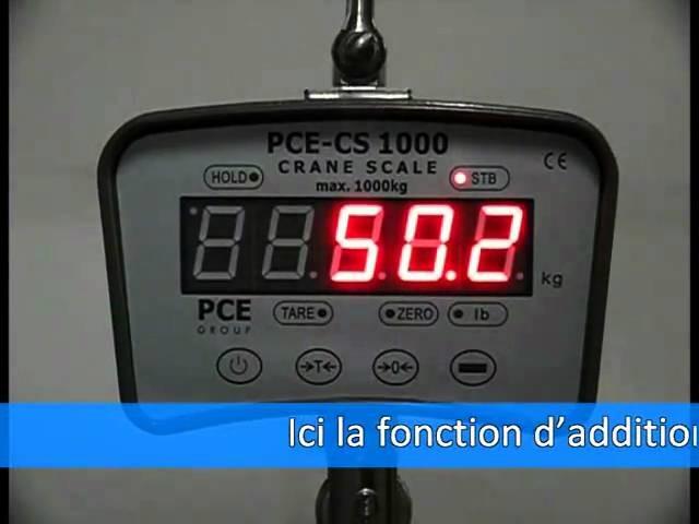 Crochet peseur PCE-CS 1000