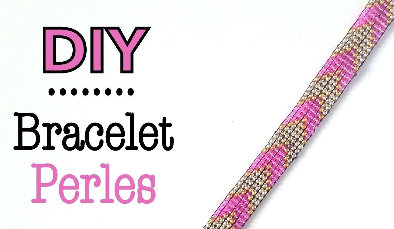 DIY Bracelet perles de rocaille métier à tisser