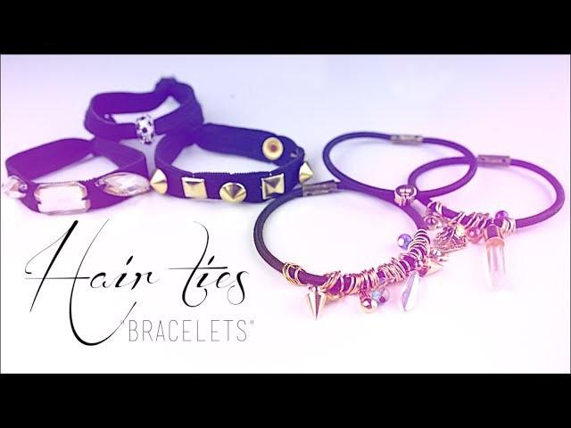 DIY - Cadeau fait-mains : Elastiques - Bracelets pour cheveux - Hair ties bracelets (english subs)
