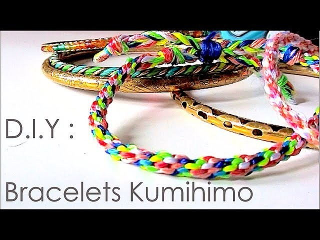 DIY : comment faire des bracelets avec la technique de kumihimo. kumihimo patterns