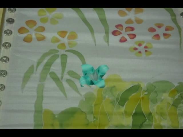 Origami & peinture sur soie