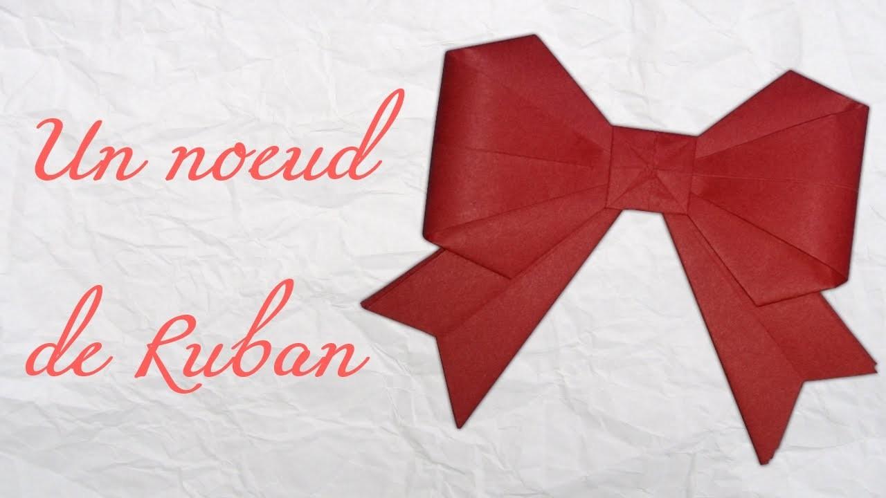 Origami ! Un noeud de ruban.