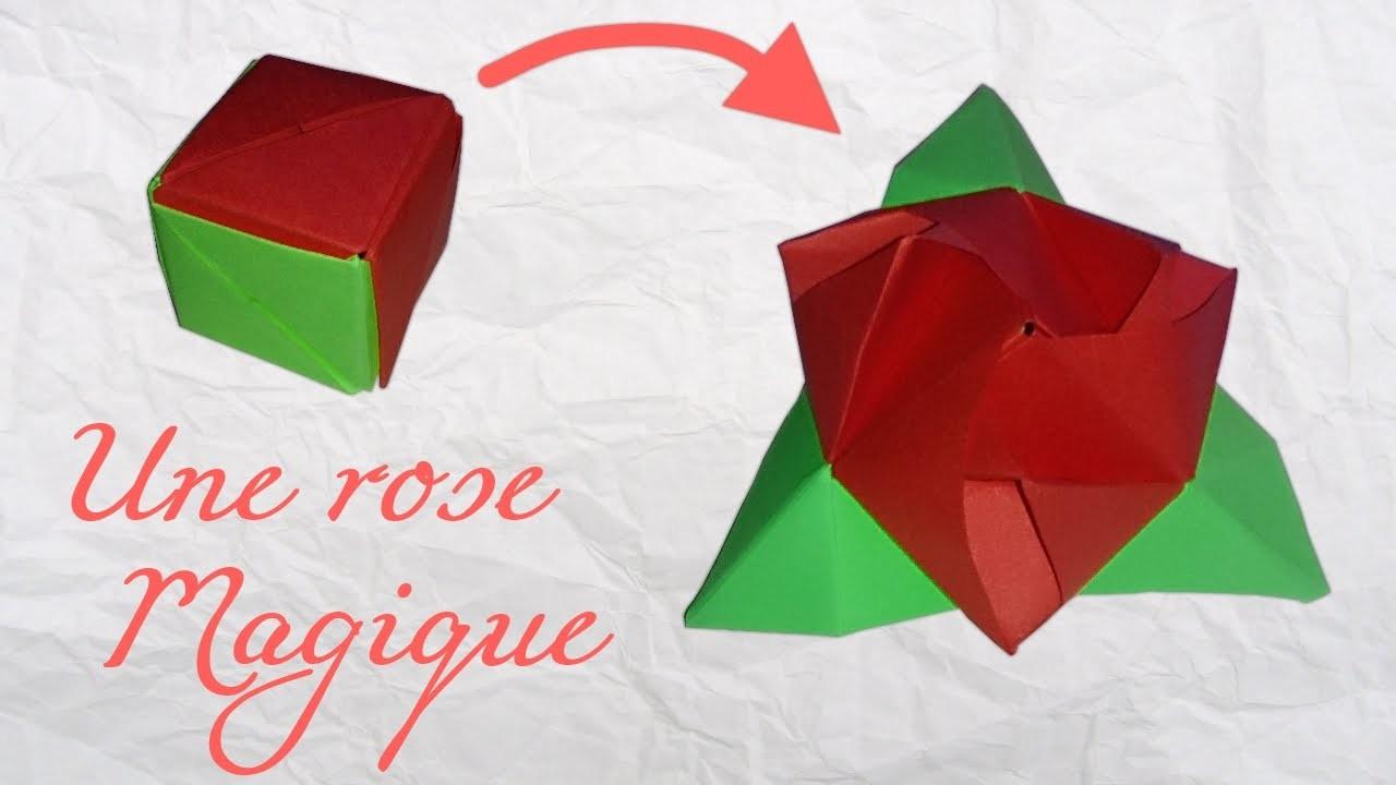 origami une rose magique