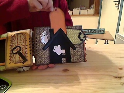 SCRAPBOOKING GRATUIT : album halloween en sac en papier avec scrapaganza.fr