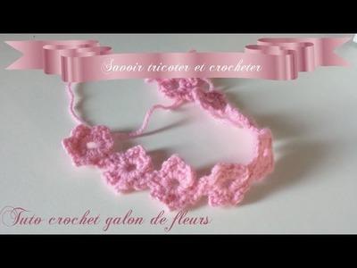 Tuto crochet galon ruban de fleurs