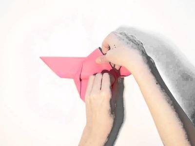 "Tuto Origami Facile : ""Le Papillon"""