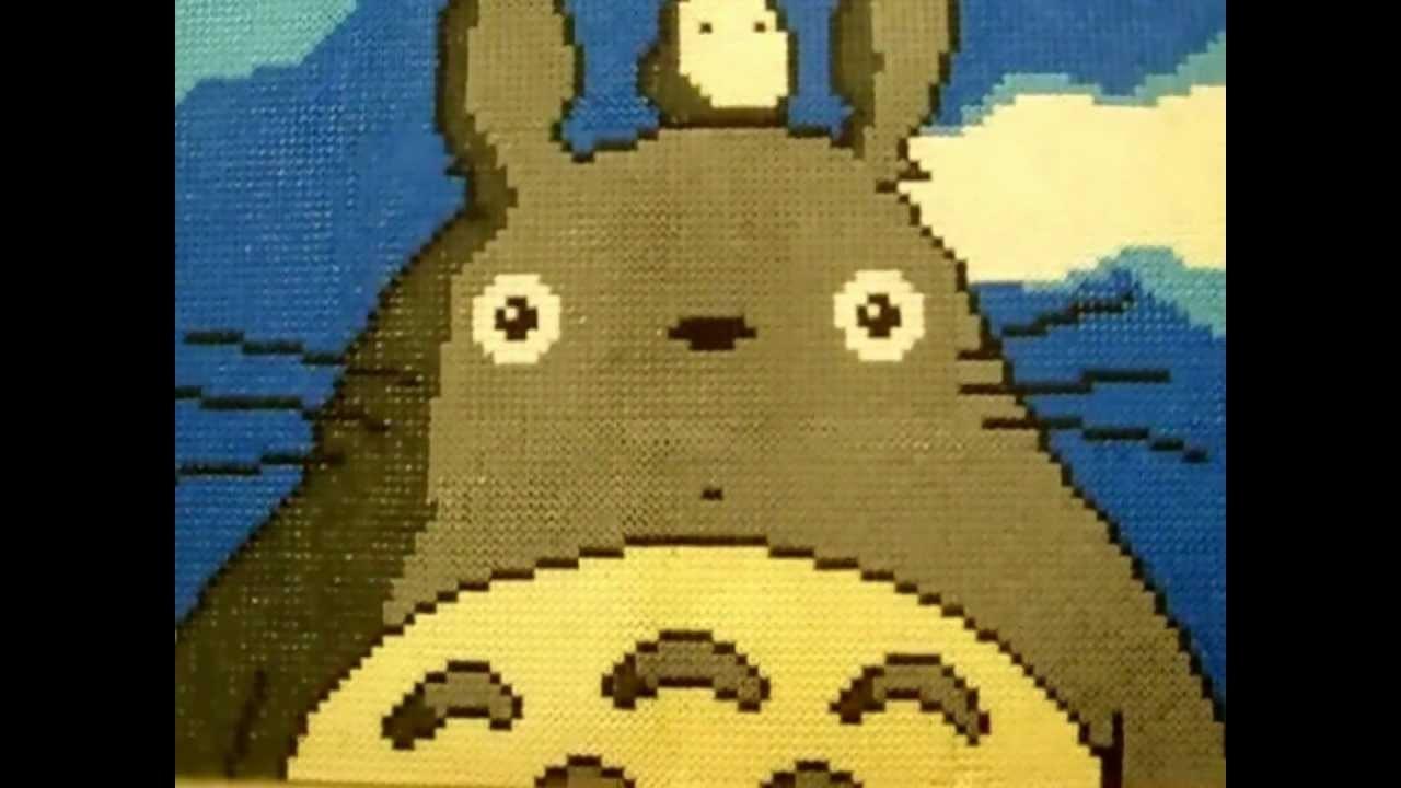 [Tuto]Tableau de Totoro en Perles Hama (Hama Beads)