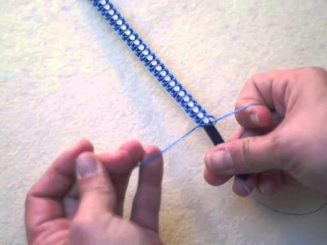 Tutoriel Bracelet tressé en suédine et chaîne strass SWAROVSKI ELEMENTS