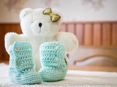 Cours de crochet - Bottines. Chausson pour bébé