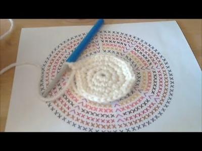 Cours de crochet N°31 - Comment Lire 1 Diagramme Rond - Faire 1 Rond Plat ?