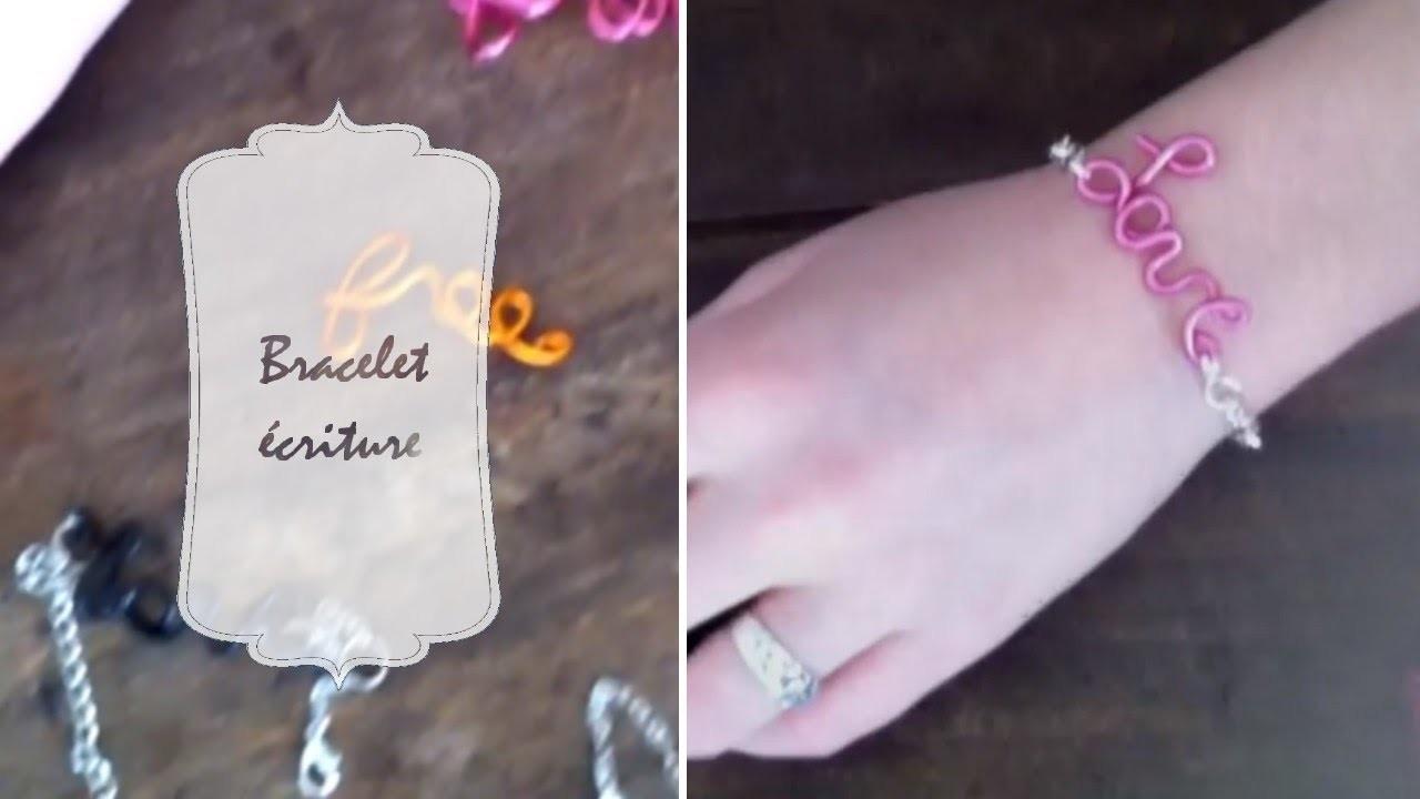 DIY | Faire un bracelet écriture