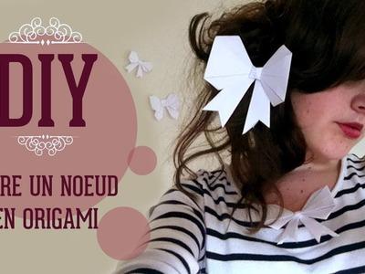 DIY - Faire un noeud en origami