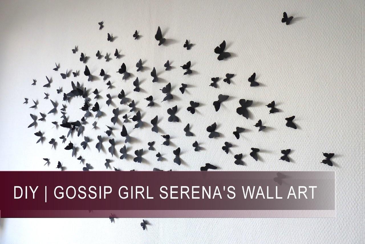 DIY   ***GOSSIP GIRL*** Tête de lit Papillons (Butterflies wall art)