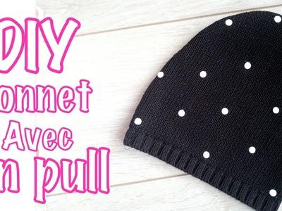 DIY Mode récup Le bonnet avec un vieux pull + Idée customisation