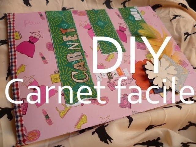 [DIY] Réaliser facilement un carnet sans colle ni couture. Make an easy book !