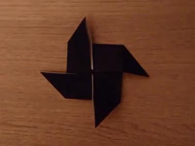 Faire un moulin en origami - Moulin papier