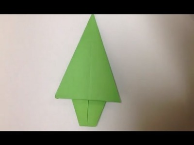 Faire un sapin en origami - Décoration de Noël