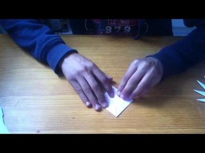 Faire une étoile originale en origami - Astuce origami originale