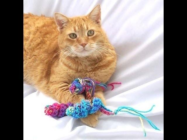 Jouet pour chat au crochet facile à réaliser