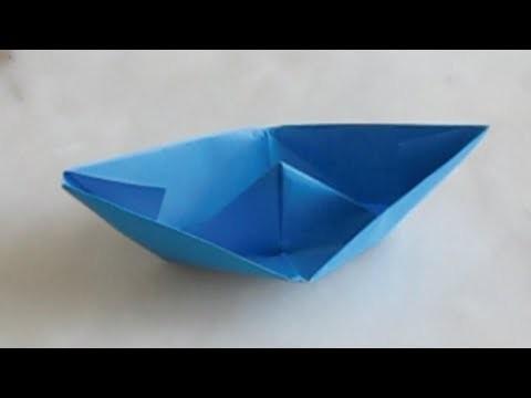Le petit bateau en papier (origami)