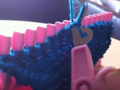 Maille envers de droite à gauche sur knitting pal