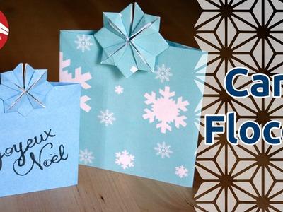 Origami - Carte flocon de neige par Katrin et Yuri Shumakov [Senbazuru]