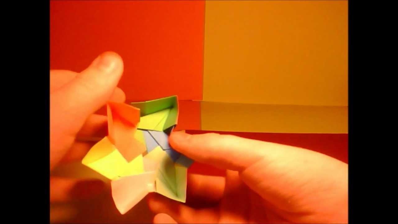 Origami : comment faire une boite en forme d'étoile