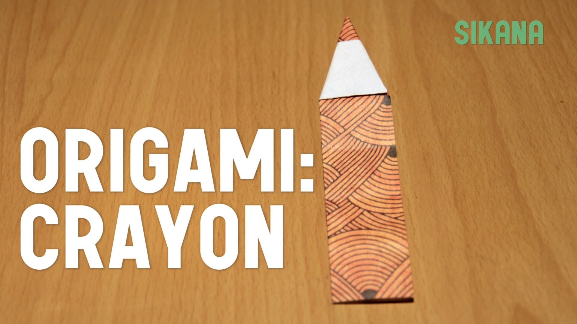 Origami : Crayon en papier - HD