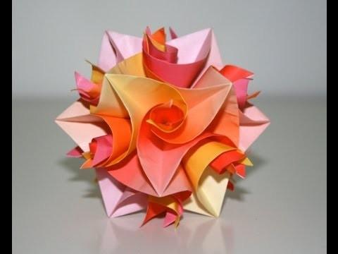 """Origami - Cuboctaèdre """"Curler Units"""" [Senbazuru]"""