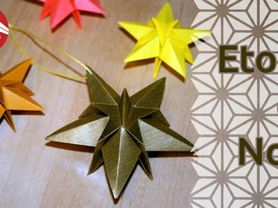 Origami - Etoile de Noël [Senbazuru]