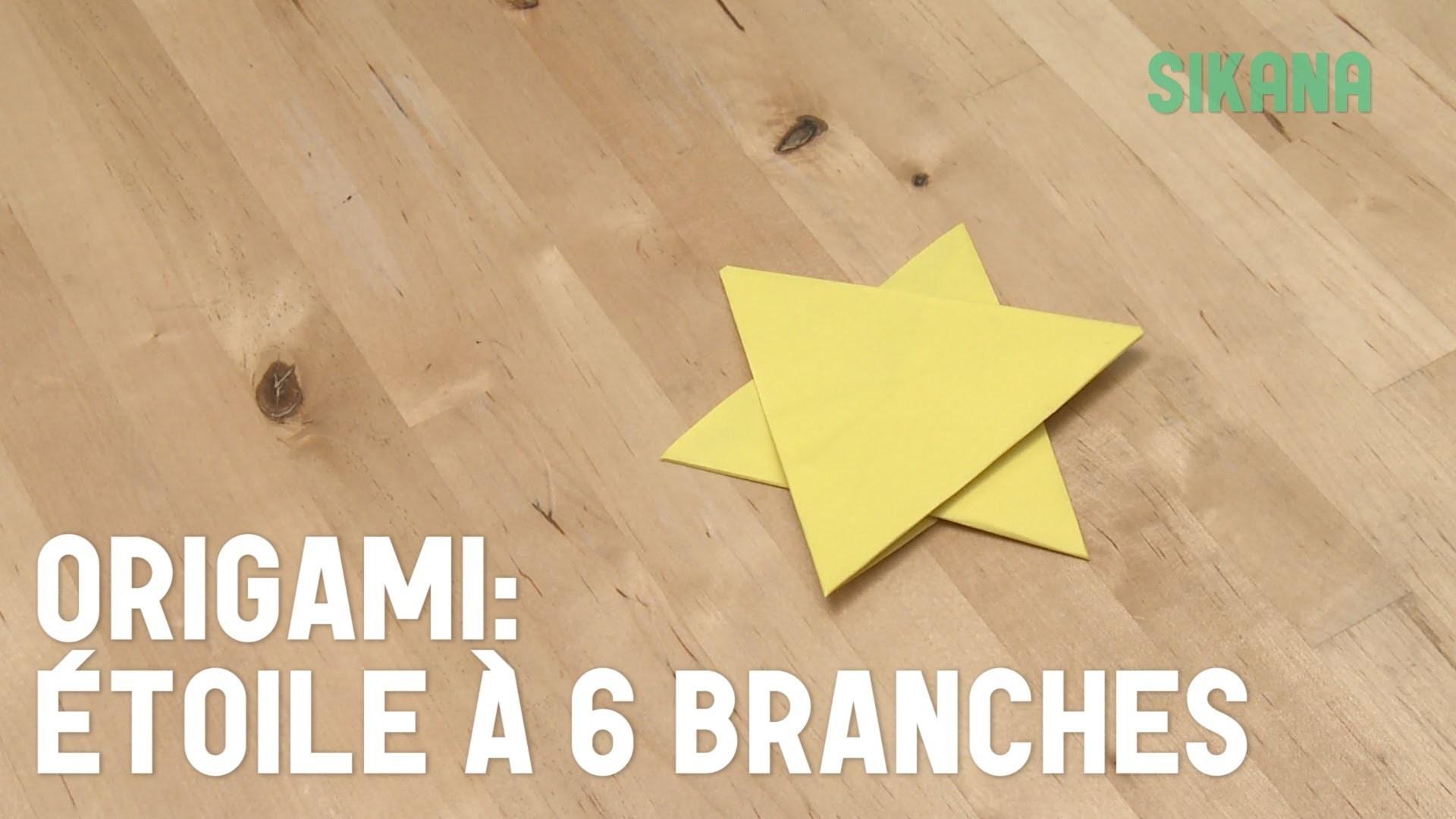Origami : Faire une étoile à 6 branches en papier - HD