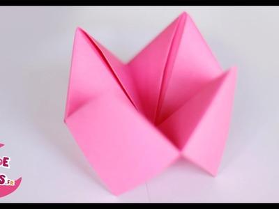 Origami: la salière en papier (ou le quizz de la cocotte)