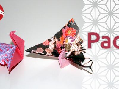 Origami - Paon - Peacock (HD) [Senbazuru]