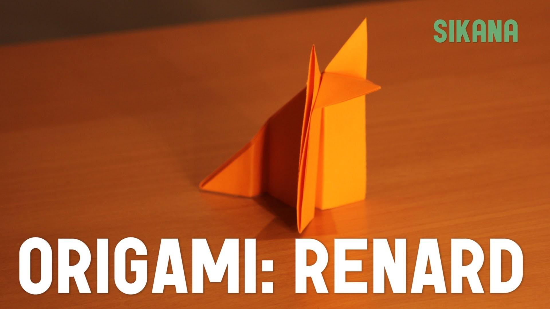 origami renard en papier facile hd. Black Bedroom Furniture Sets. Home Design Ideas