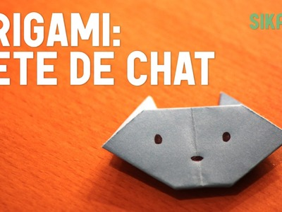 Origami : Tête de chat (facile) - HD