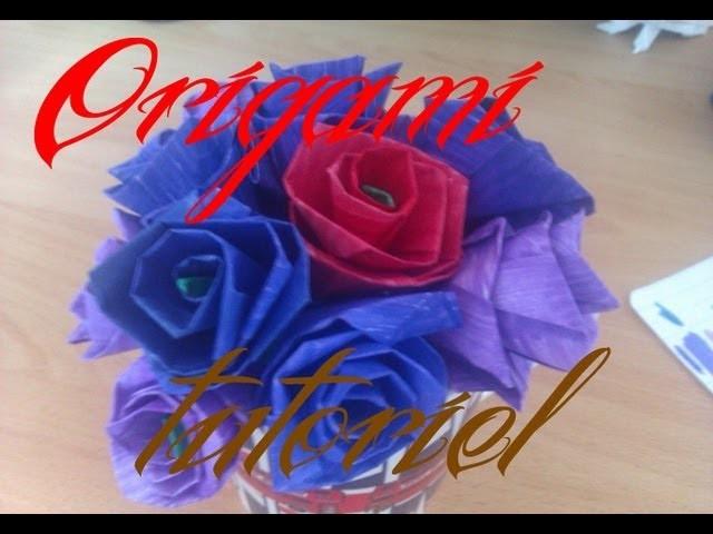 Origami, Tutorial : faire une fleur