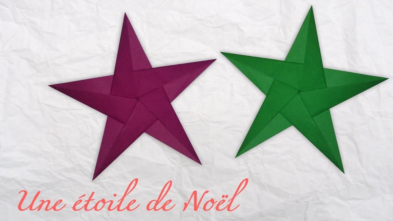 Origami ! Une étoile de Noël.