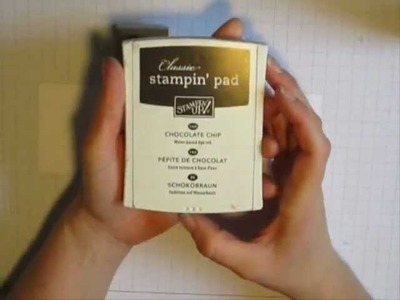 Scrapbooking, carterie : technique de base avec les tampons