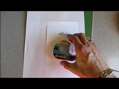 Scrapbooking - Comment imprimer un texte à l'ordinateur sur une carte artisanale