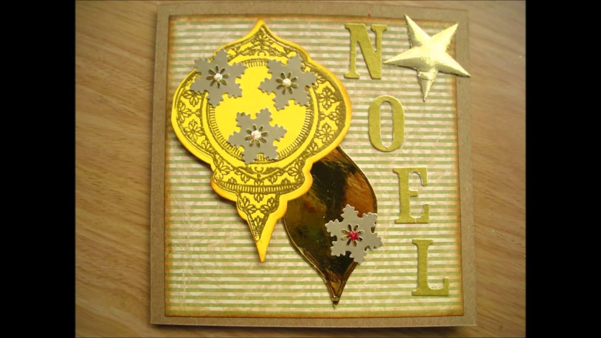 SCRAPBOOKING GRATUIT POUR PREPARER NOEL: quelques cartes de voeux