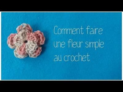 Tuto : Comment faire une fleur très simple au crochet